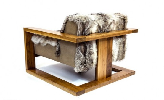 Long Wool Icelandic Sheepskin And Coyote Hide Furniture