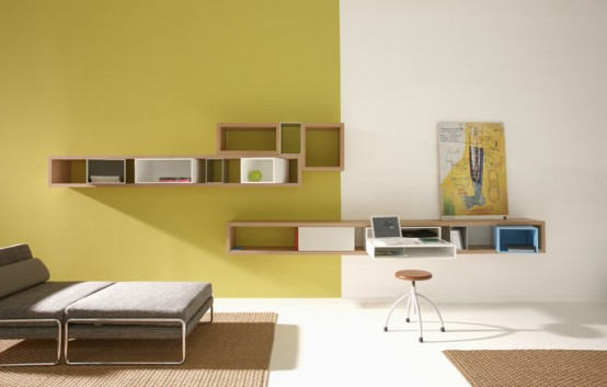 Longue Bookshelves With Accessories