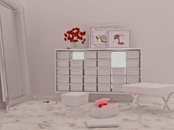 Love Manolo Cabinet For Storage Of Your Favorite Shoes