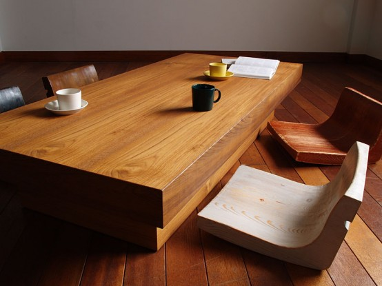 Cozy Low Furniture In Japanese Traditions
