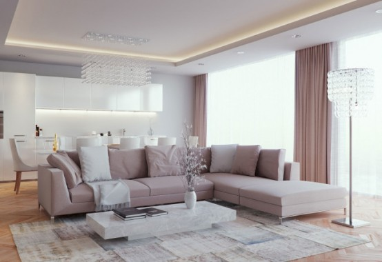 Modern Style Living Room luxurious and elegant living room design: classics meets modern