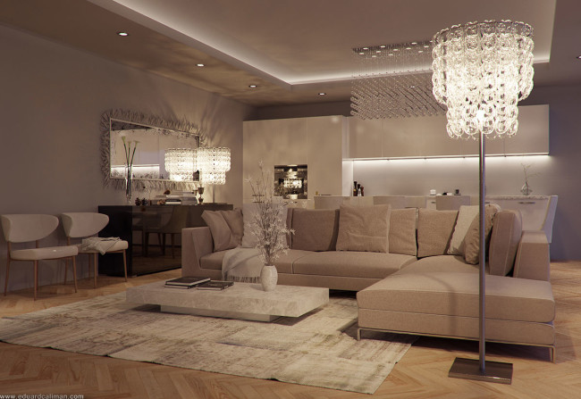 Luxurious and elegant living room design classics meets for Decoration coin salon moderne