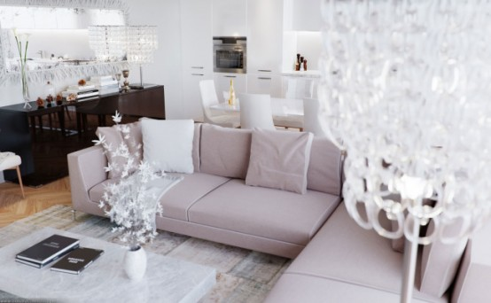 luxurious and elegant living room design classics meets modern style