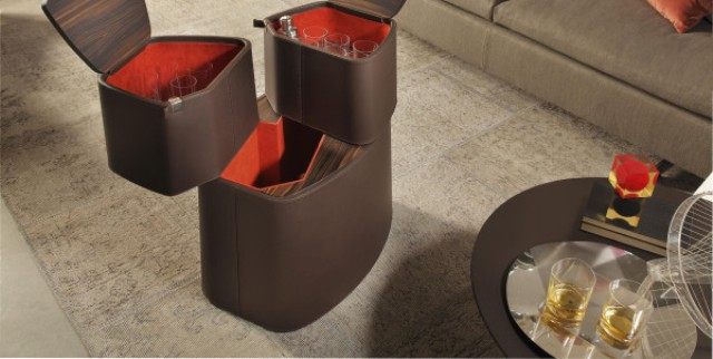 Luxurious Babel Bar Covered With Leather
