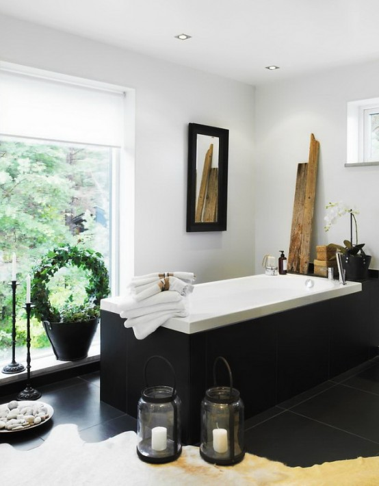 Luxurious Bathroom Design Looking Like A Home SPA