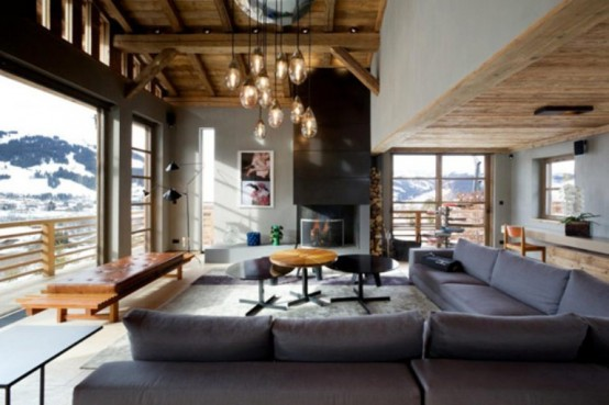 Luxurious Chalet Of Natural Wood In The French Alps