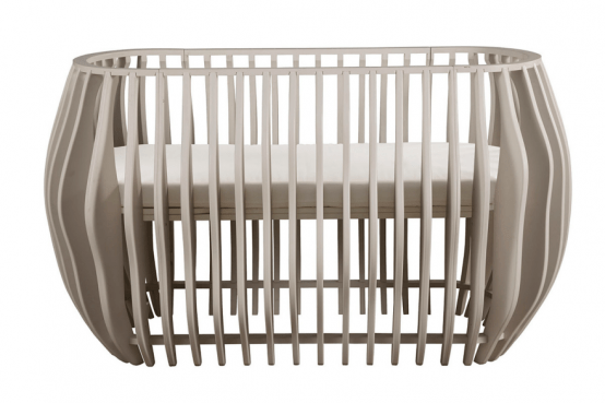Luxurious Gradient Crib And Bassinet With An Organic Shape