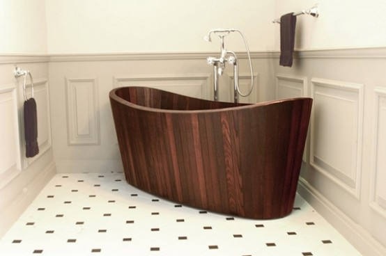 Luxurious hand crafted khis wooden bathtubs digsdigs - Vasca da bagno antica ...