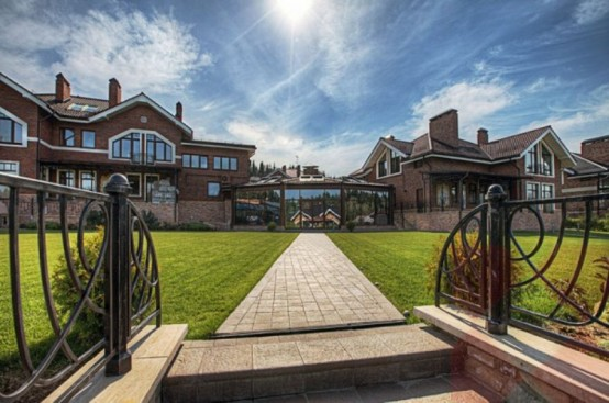 Luxurious Mansion Of Rough Stone Near Moscow