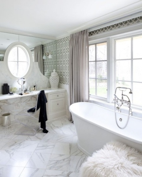 48 luxurious marble bathroom designs digsdigs for New washroom designs