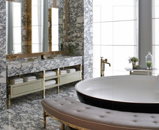 Marble Bathroom Ideas To Create A Luxurious Scheme: 48 Luxurious Marble Bathroom Designs