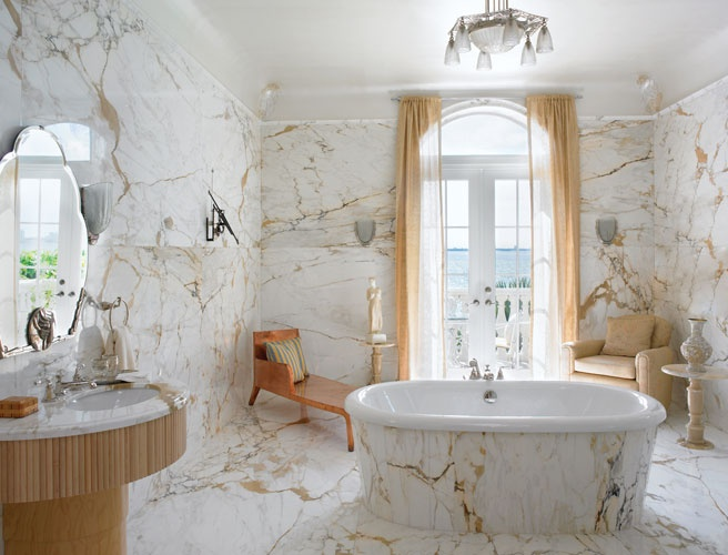 48 luxurious marble bathroom designs digsdigs for Retro bathroom designs