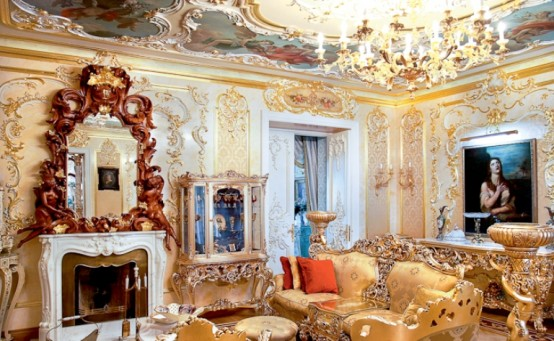 Luxurious Rococo Style Apartment Design