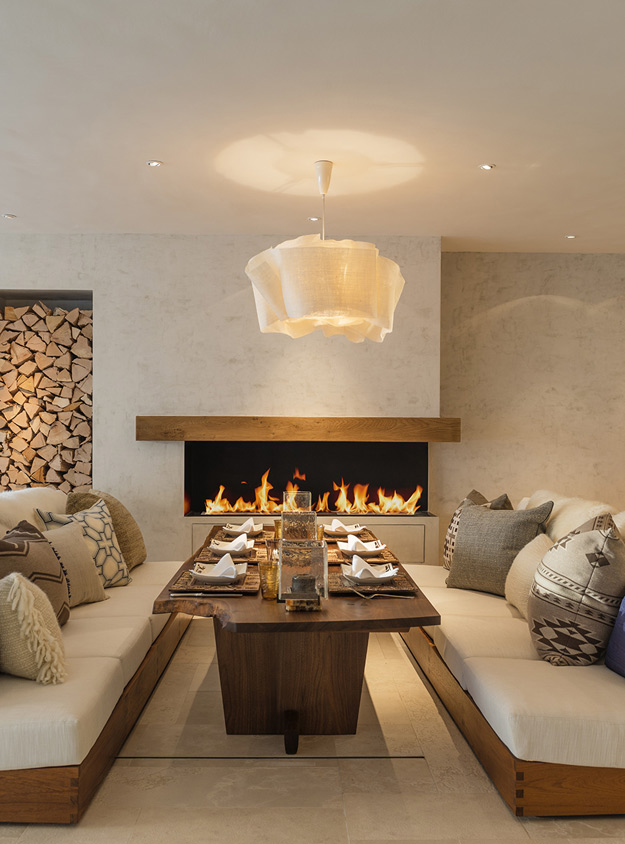 Luxurious Swiss Chalet With Lotsof Wood And Stone