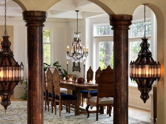 Luxurious victorian villa on the ocean coast digsdigs for Dining room designs with pillars