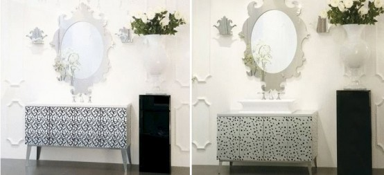 Luxury Bathroom Furniture With Gold Or Silver Covering - Hermitage By Oasis -...