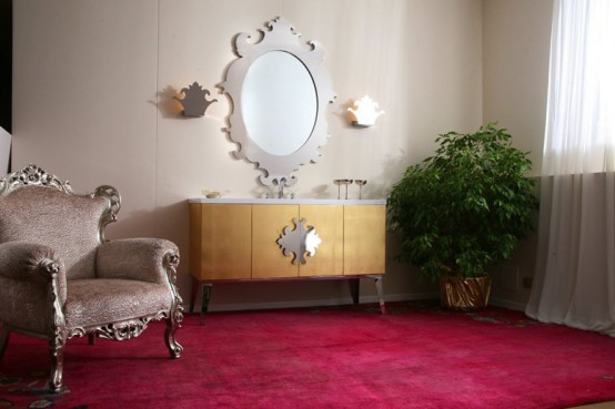 Luxury Bathroom Furniture With Gold Or Silver Covering – Hermitage By Oasis