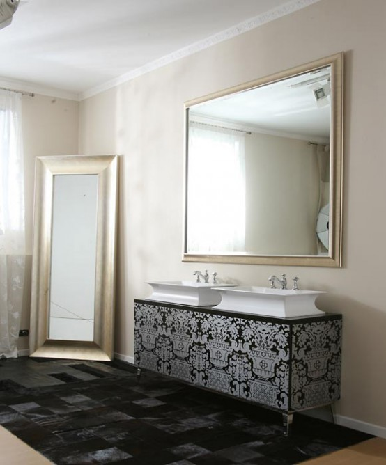 Luxury Bathroom Furniture With Gold Or Silver Covering Hermitage By Oasis