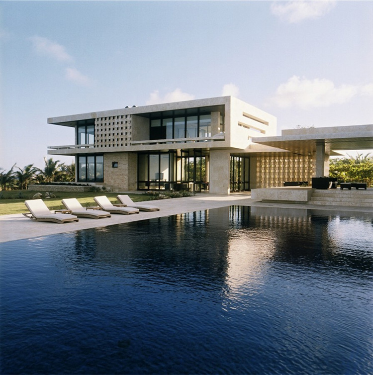 Modern Houses With Pool Luxury Beach House In Dominican Republic Casa Kimball DigsDigs