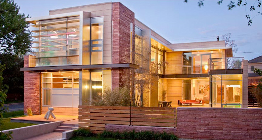 luxury contemporary house design with floor to ceiling windows and
