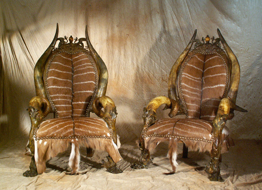Exotic Luxury Furniture with Tribal and Gothic Touches