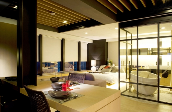 Luxury hong kong apartment design by philip liao digsdigs for Small little luxury hotels