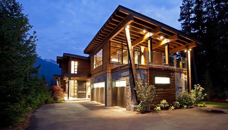 Luxury house with a modern contemporary interior digsdigs for Mountain style home plans