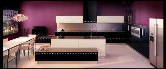 Luxury Kitchen Decorated By Swarovski Crystals