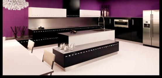 Luxury Kitchen Decorated By Swarovski Crystals