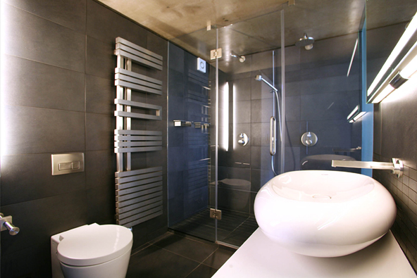Contemporary luxury london loft digsdigs - Bathroom design london ...