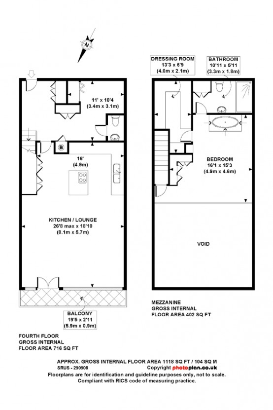 Luxury London loft plan