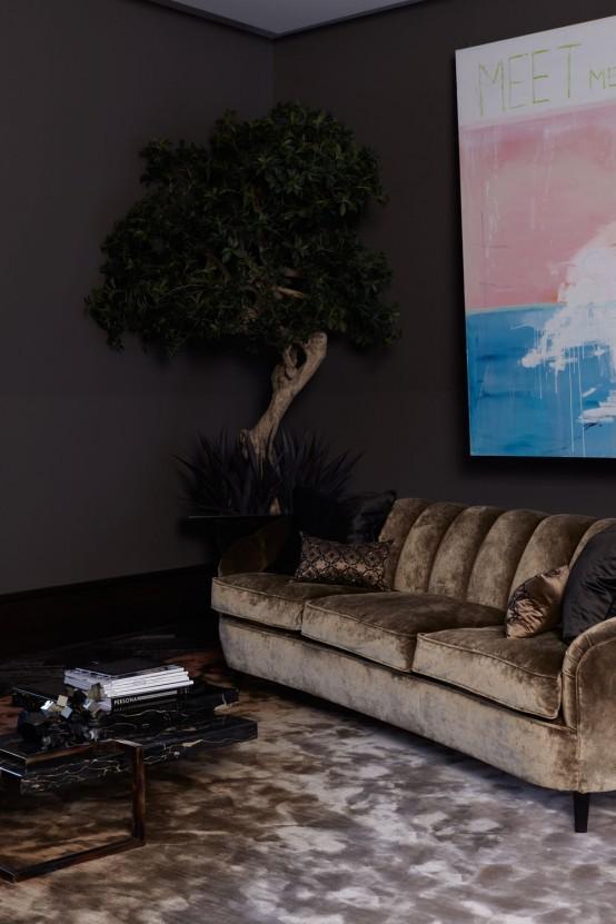 Luxury London Penthouse Infused With Impressive Dark Hues