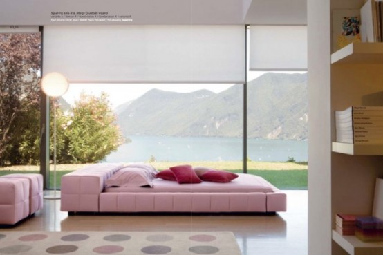 Luxury Pink Bedroom With An Amazing View