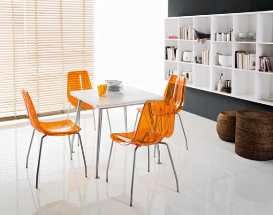 Lynea  Contemporary dining chairs by Domitalia  DigsDigs