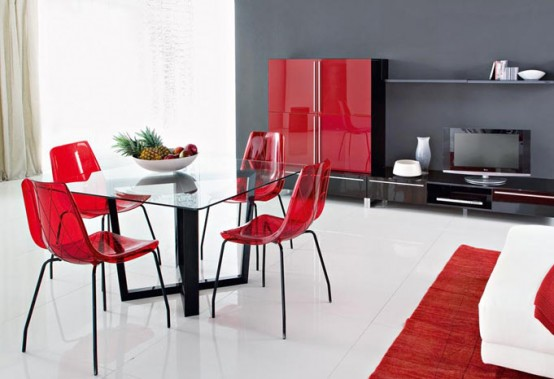 Lynea – Contemporary dining chairs by Domitalia