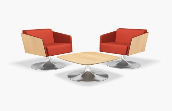 Lyra Club Lounge Chairs With Table