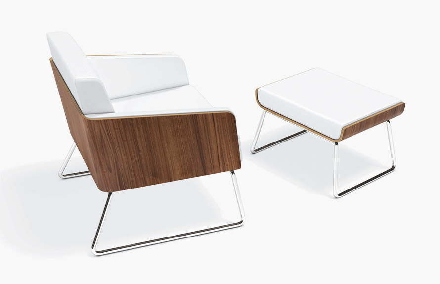 Fresh and modern interpretation of classic lounge chairs for Stylish lounge furniture