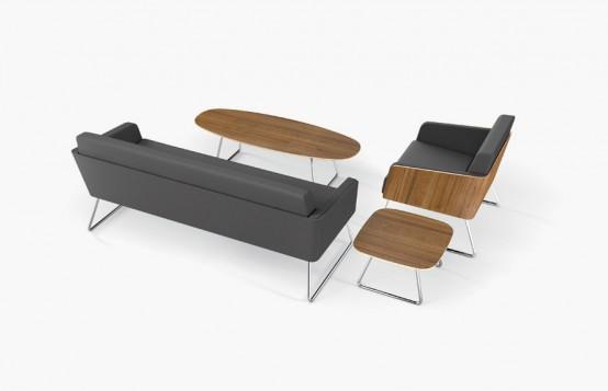 Lyra Lounge Chair With Sofa And Table