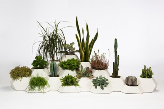 Ma Ce Ta Puzzle Planters For Compact Spaces