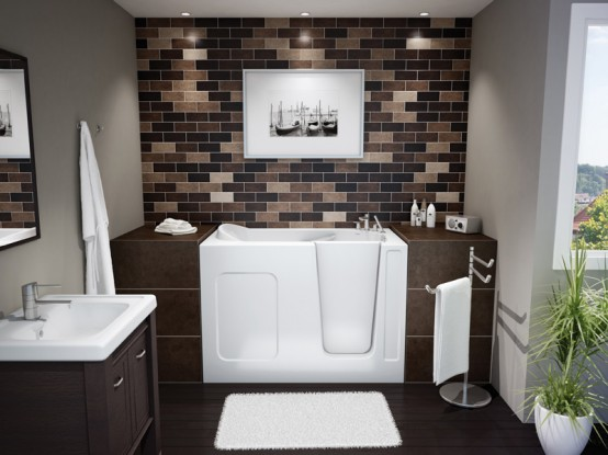 Compact Walk-In Bathtub by Maax Professional