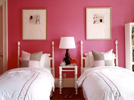 Magenta Hued Shared Girls Bedroom
