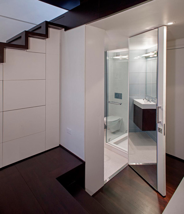 Bathroom Floor Layers : Manhattan micro loft with layers of rooms digsdigs