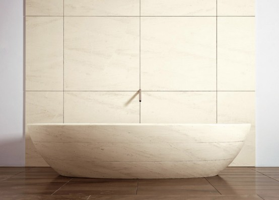 Tinozza – Beautiful Caved Stone Marble Bath