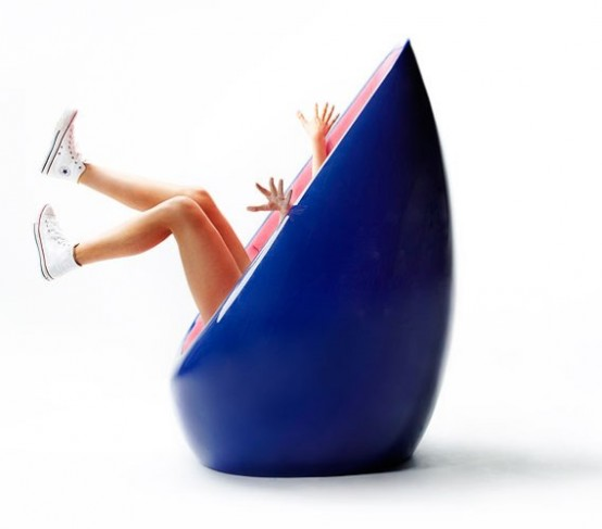 Egg-Shaped Chair By Karim Rashid