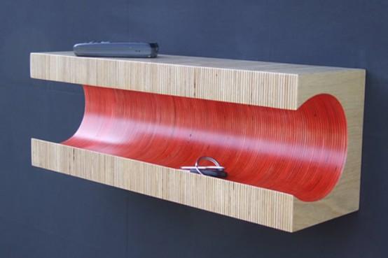 A Shelf Made Of Stripes