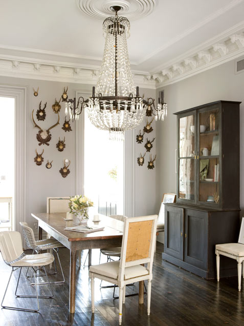 Masculine And Neutral Dining Room Design