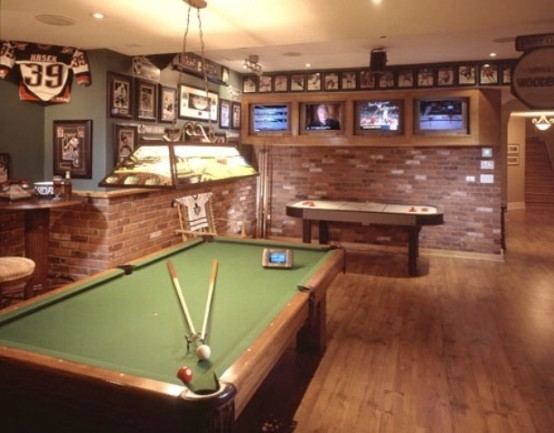 77 masculine game room design ideas digsdigs for Pool design game