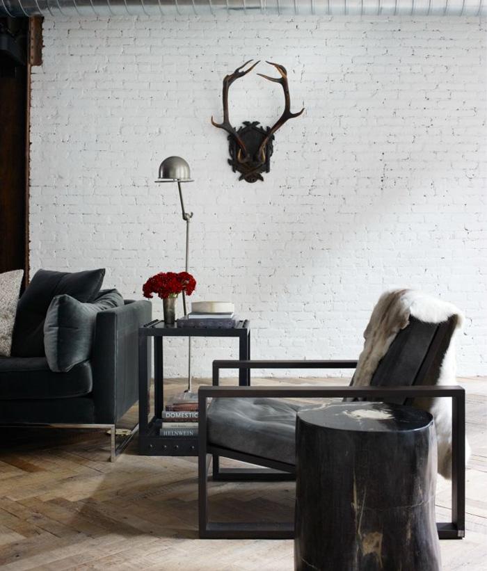 Advertisement - Elegant minimalist loft design in masculine vibe wooden decoration ...