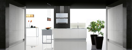 Matrix – Minimalist Kitchen for Narrow Areas by Gabanes