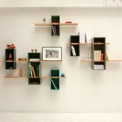 Snake-Shaped Colorful Versatile Shelf | DigsDigs
